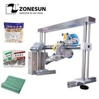 ZONESUN XL T853 Автоматическая плоская поверхность банок линия по производству продуктов питания этикеточная машина аппликатор Квадратная бутыл