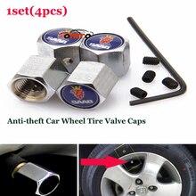1 conjunto para saab 9-3 9-5 93 95 BJ SCS tampas da haste da válvula da roda de carro Auto válvula do Pneu da roda Tampas