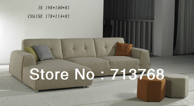 Modern Living Room Furniture Sectional Sofa With High Quality Fabric Mcn441