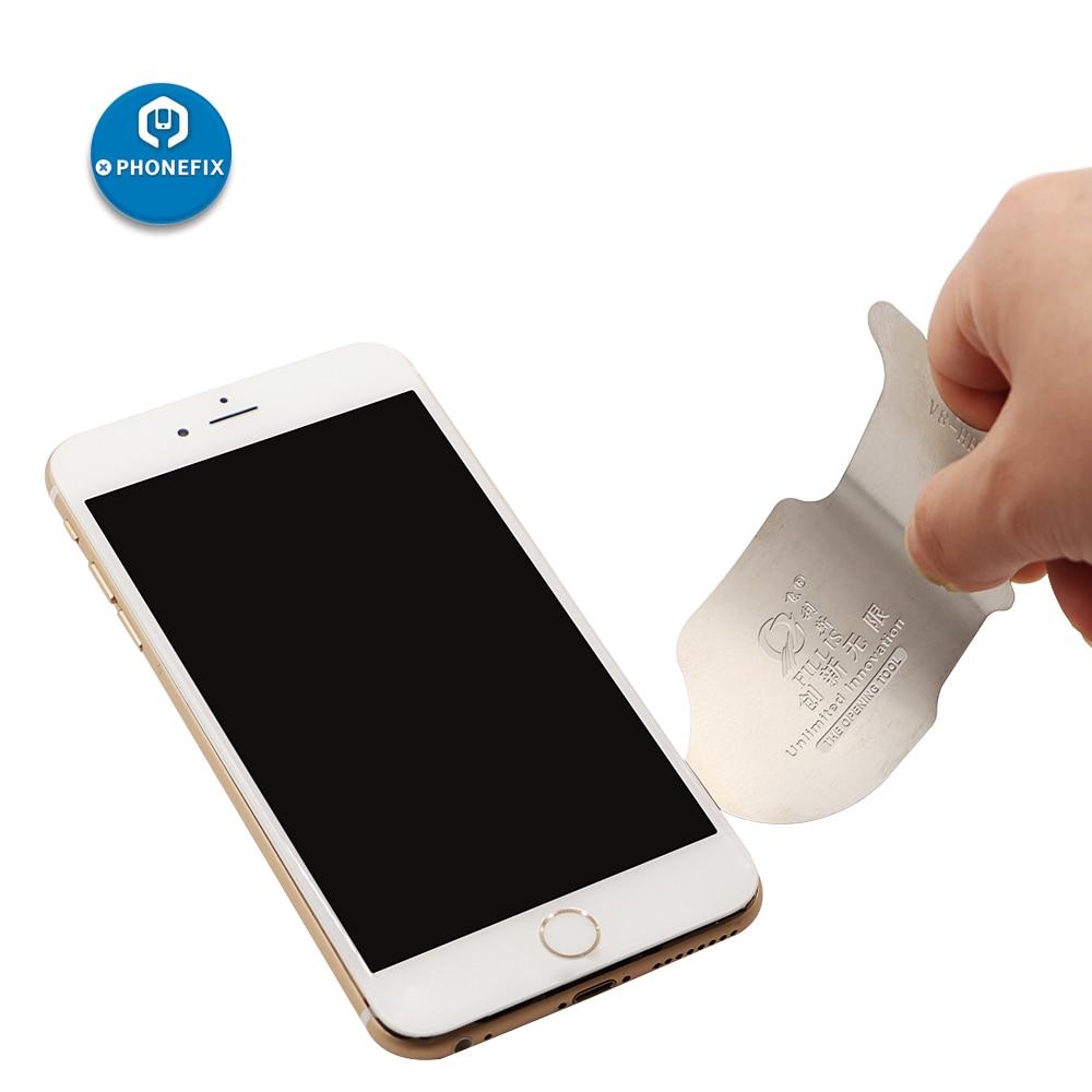 PHONEFIX Phone Repair Opening Pry Tool Kit DIY Phone Disassembly Metal Blade Sheet Scraper Triangle Pry Tool Plastic Card