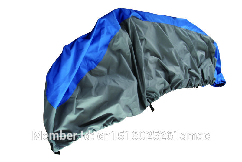 600D PU coated Oxford polyester jet ski cover,PWC,suit for jet ski length 116-135inches,294-343cm Blue dark grey