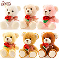RYRY 40cm cute lovely  bear baby girl plush toys doll kid doll flower bouquets bear For Christmas Gift doll cute bears