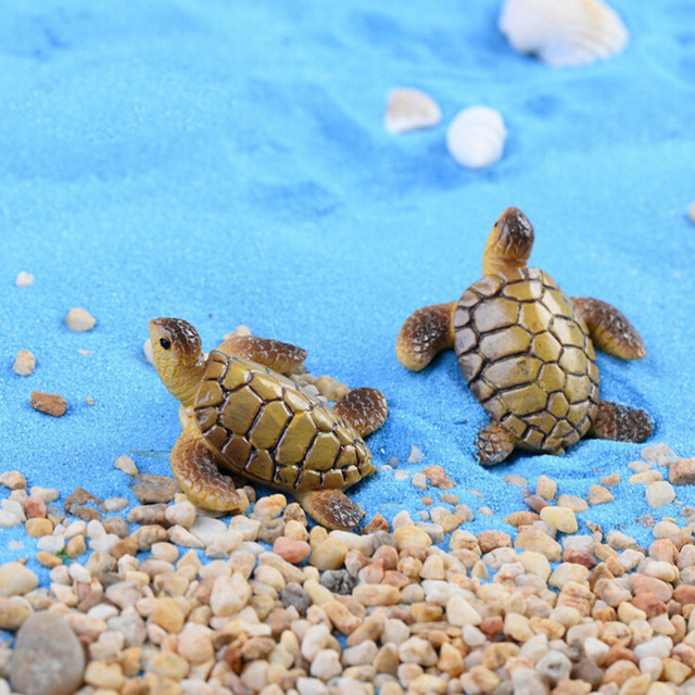 1 Pcs Mini Sea Turtle Animal Miniature Doll House Terrarium Decor Ornament  Toys Fairy Garden Decoration
