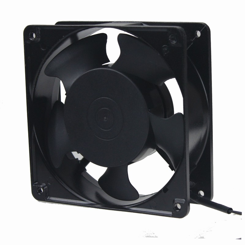 5 pcs Gdstime 2 Wire Axial AC Fan 110V 120V Cooling Fan 120mm 12cm 12038 120x120x38mm ball axial fan jd12038ac 220v 0 14a 12cm cooling fan