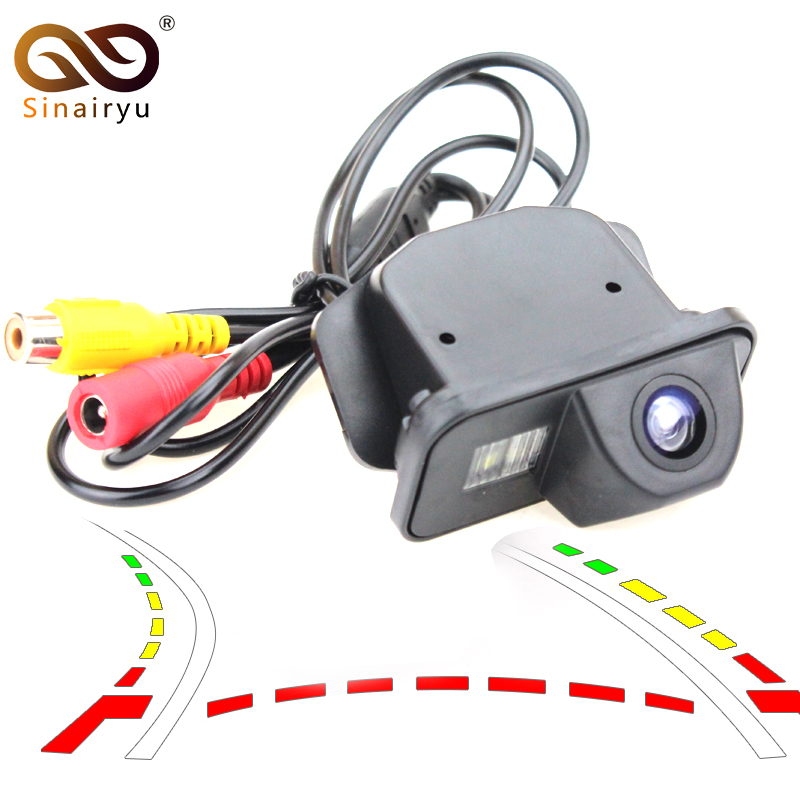 Car Dynamic Trajectory Reverse Backup Rear View Camera For <font><b>Toyota</b></font> Corolla Auris Avensis T25 <font><b>T27</b></font> Vehicle Tracks Parking Camera image