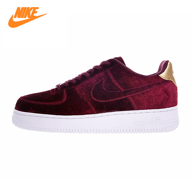 8f02890fc46e ... Nike Air FORCE 1 terciopelo AF mujeres monopatín Zapatos