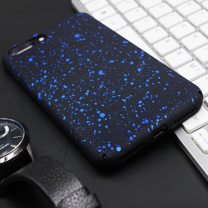 Ultra Thin Star Case For iphone 7 7plus Cute Luxury Simple Phone Cases Back Full Cover for iphone 8 8plus iPhone X Shell Bag