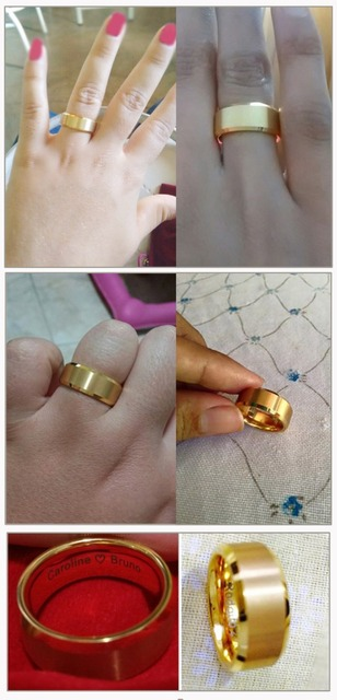 Gold Color Alliance Tungsten Ring