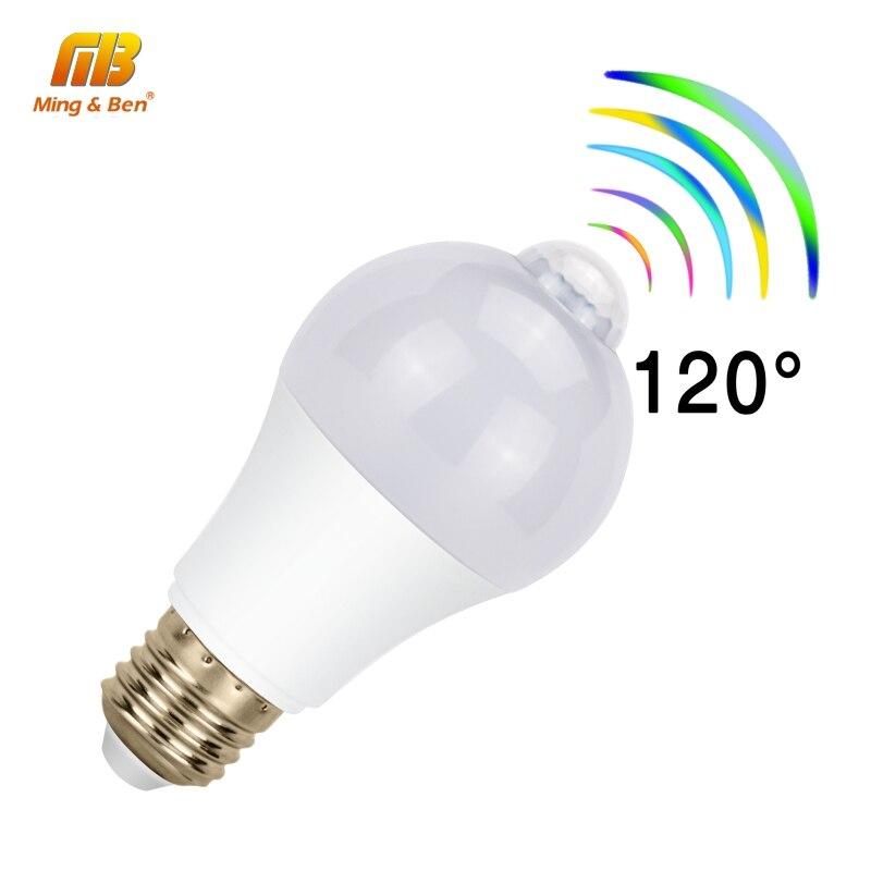 LED E27 PIR Sensor Bulb 12W 9W 7W 5W Stable AC 220V 110V Motion Sensor Day Night Bombilla Dusk To Dawn Light For Home Lighting