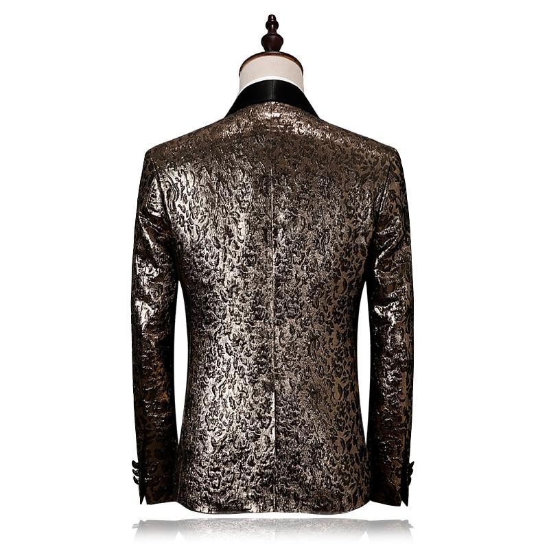 Μαύρο Lapel χρυσό Tuxedo κοστούμι κοστούμι - Ανδρικός ρουχισμός - Φωτογραφία 3