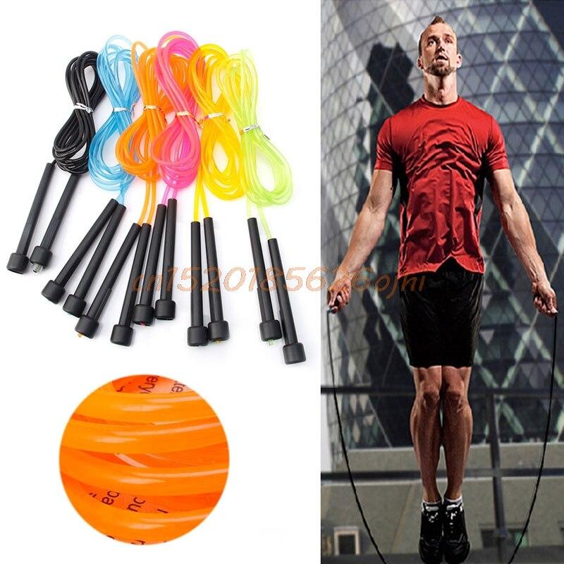 1 stück Springen Boxen Geschwindigkeit Cardio Gym Übung Fitness Einstellbare Springseil 2,8 Mt