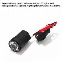 Diy mini cross racing quadcopter drone LED kit de iluminación de 3 W ultrabright LED luz de la noche + RC electrónico módulo de conmutación