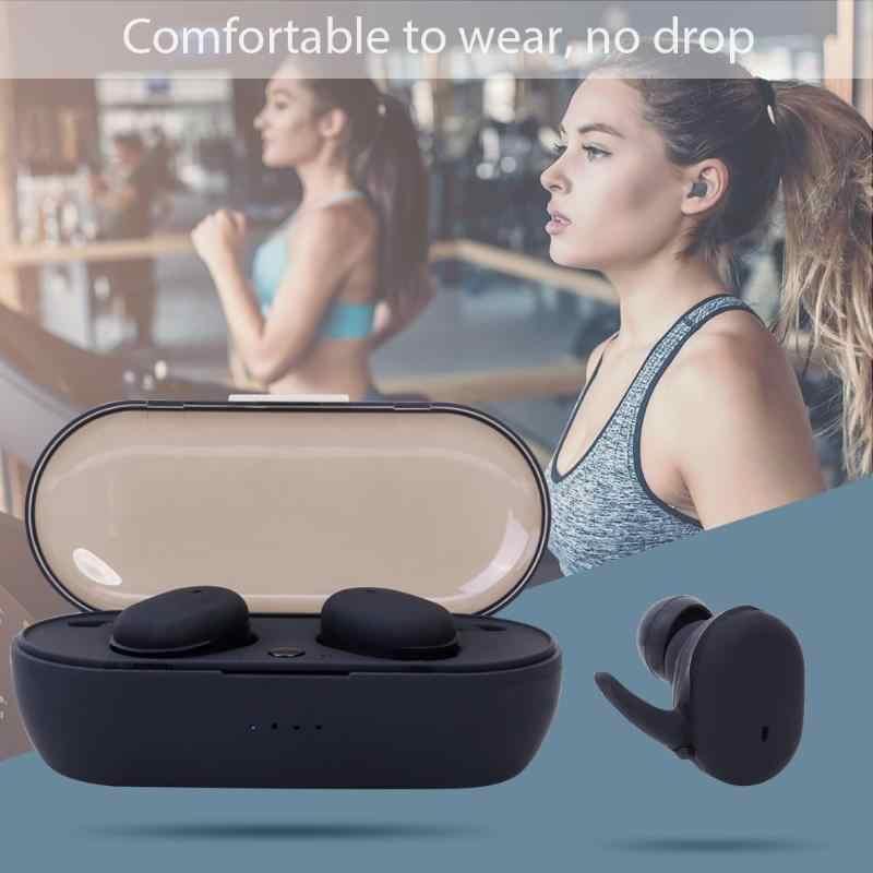 TWS4 5.0 ミニワイヤレス Bluetooth イヤホンヘッドセットヘッドフォンスポーツ 3D ステレオイヤフォン Headfrees w/マイク充電ボックスディスプレイ