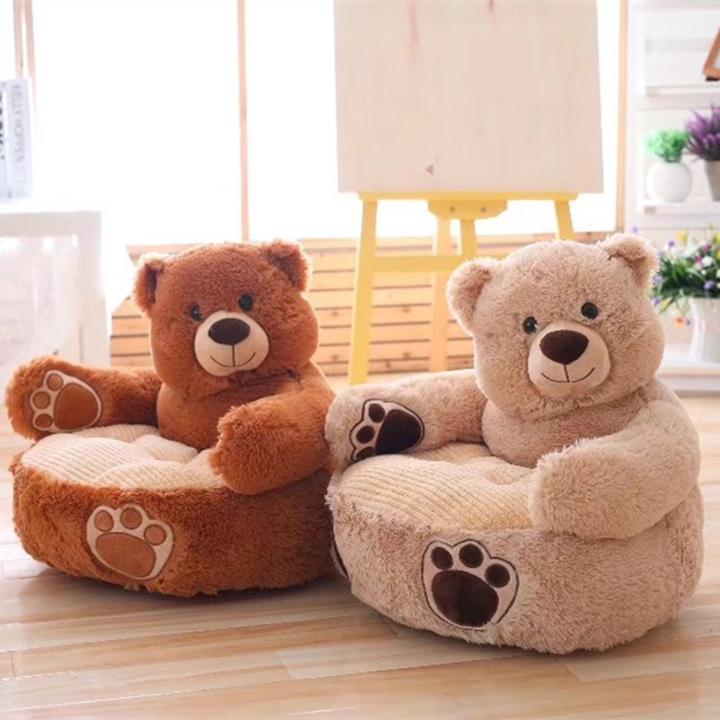 1pc 45cm Plush Pillow Stuffed Bear And Dog Lazy Sofa Baby Soft Sofa Kawaii Plush Toys For Kids And Girls,Birthday Gift 70cm kawaii big head panda plush toys stuffed soft animal pillow cute bear gift for children kids baby girls birthday gift