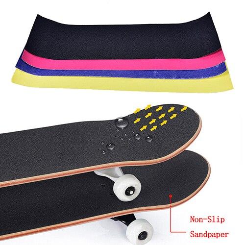 23*84cm Skateboard Sandpaper Skate Grip Longboard Tape Non-Slip Waterproof Anti-Tear Paster For Board Cruiser Long Board