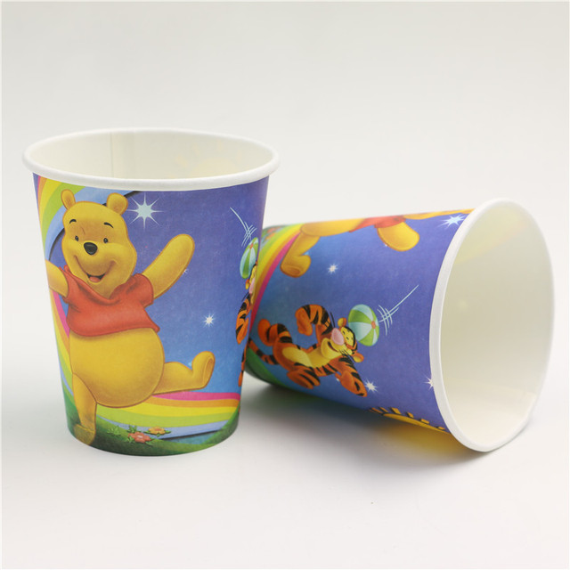 10pcs/lot Winnie the pooh theme happy birthday party suppliers disposable tableware cup drinks childrenu0027s & 10pcs/lot Winnie the pooh theme happy birthday party suppliers ...