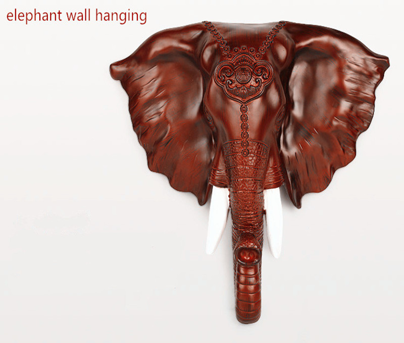 Resin elephant head hanging wall decoration modern European household adornment is hanged on the wall to bring good luck