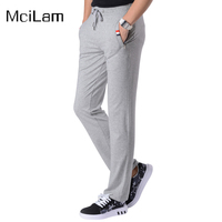 Spring Summer Fleece Sports Pants Men Outdoor Hiking Fishing Running Trousers Loose Drawstring Sweatpants Male Sport