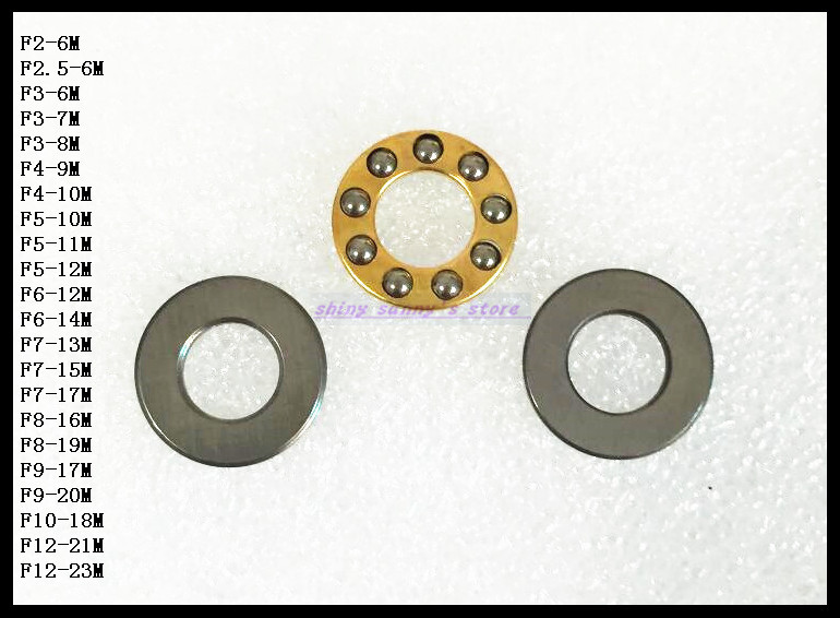 10pcs/Lot  F12-23M 12mm x 23mm x 7.5mm 12x23x7.5 mm Axial Ball Thrust Bearing