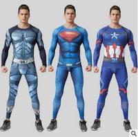 การบีบอัดชุดขนาดบวกผู้ชายวอร์มแฟชั่นแบรนด์ผอมเสื้อผ้า3dพิมพ์เสื้อยืดออกกำลังกายที่มีคุณ...