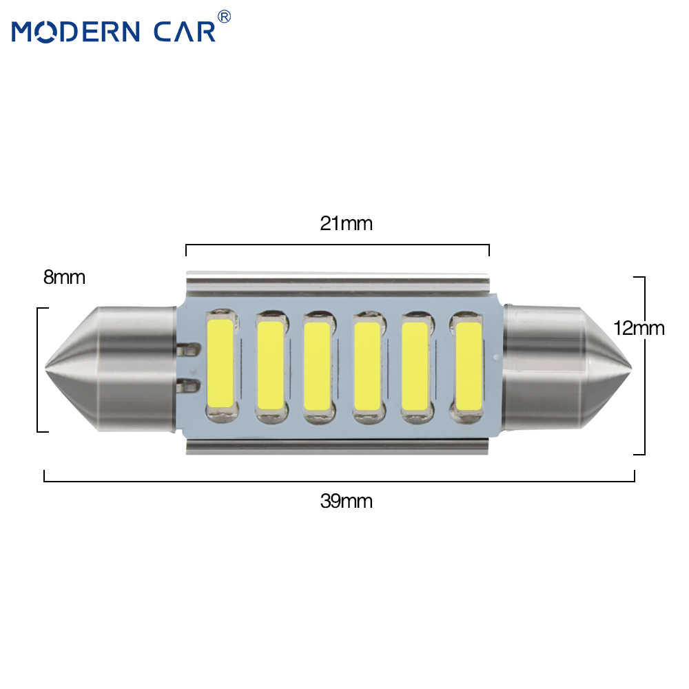Mobil Modern 31/36/39/41 Mm C5W C10W 7020 4SMD 6SMD Mobil LED Memperhiasi Lampu CANBUS kesalahan Gratis Interior Lampu Dome Membaca Bohlam Lampu