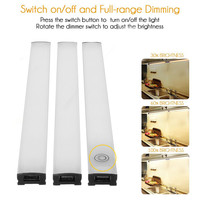 3pcs Kit USB Touch Sensor Closet Light LED Dimmable Under Cabinet Bar Strip Light Home Kitchen