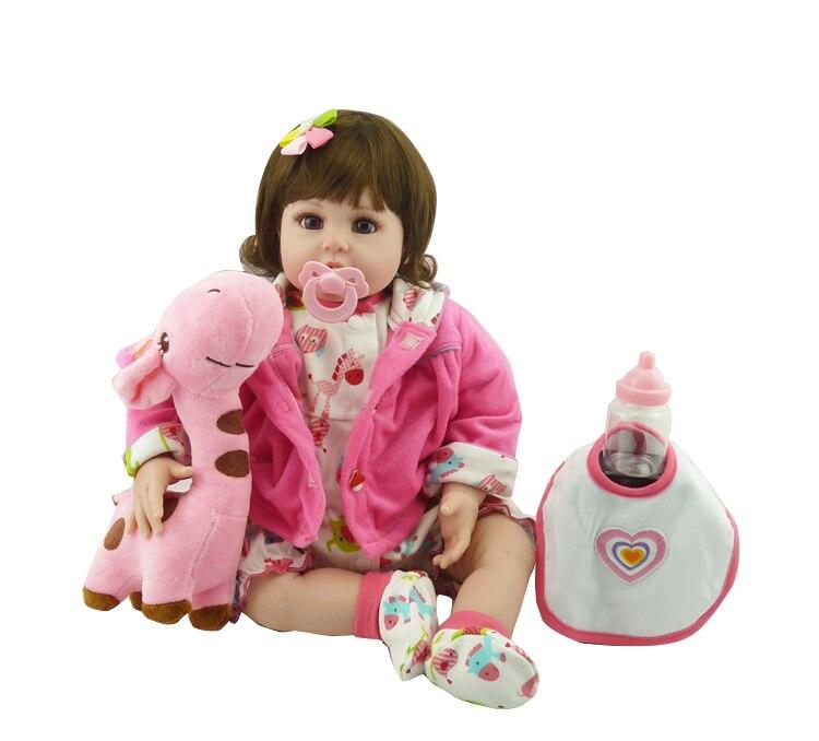 2018 nouveau 55 cm poupées russes bébé reborn poupée jouets pour enfants 22 pouces bébé jouets/poupée raiponce fille poupées pour les filles