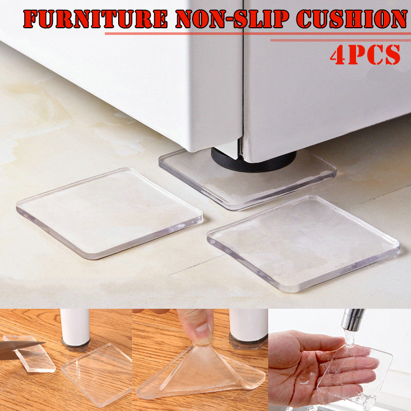 4 Pcs Washing Machine Refrigerator Chair Cushion Shock Proof Pad Furnitures Anti Slip Pad GHS99