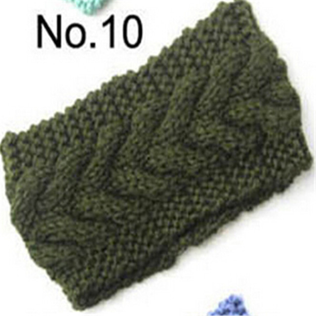 New Crochet Hairstyles 2016 : 2016 New Darkgreen Womens Crochet Knit Headband Hairband Flower Ear ...