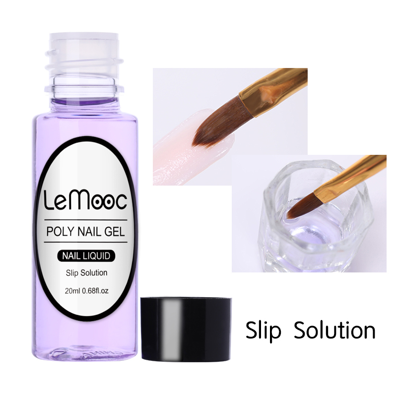 LEMOOC 20ml Poly UV Gel Slip Solution for UV Soak Off Nail Liquid Acrylic Builder UV Gel Extension Manicure Gel Varnish P35-in Nail Gel from Beauty & Health