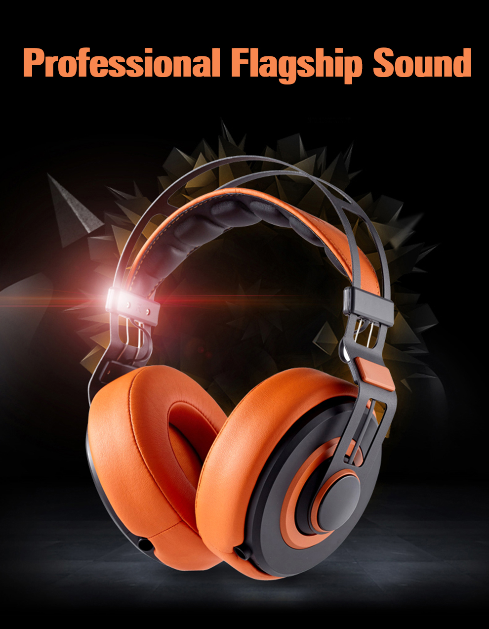 high quality noise cancelling over-head music PC MP3 player mobile phone headphone earphone black orange white -1