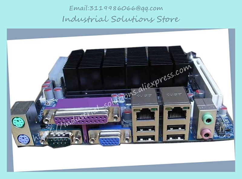 Mini-itx Motherboard Twin D525 6 ITX-M52X62A Fan Serial Ip25x3 Well Tested Working m945m2 945gm 479 motherboard 4com serial board cm1 2 g mini itx industrial motherboard 100