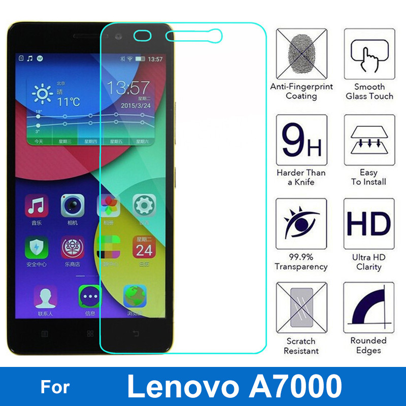 For Lenovo A7000 Tempered Glass Screen Protector 9H Safety Protective Film On K3 Note A 7000 Dual Sim Plus pelicula de vidro