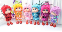 Confused Doll Key Chain Phone Pendant Mini Doll Best Toy Gift for Girl Cute Keyring Charm Ornament Accessories
