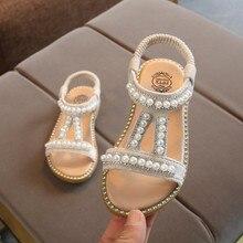 Детская обувь для девочек; Новинка; кожаные тонкие туфли в римском стиле с украшением в виде бабочек и кристаллов; летние туфли принцессы; Zapatos romanos