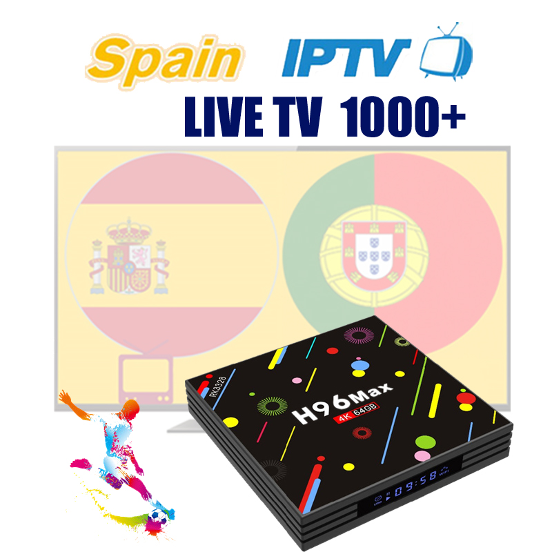 US $122 99 25% OFF|H96 2019 Lifetime Free 60+ Spain IPTV Box,Android TV box  Subscription Live Tv 1000+, Arabic India Japan No Yearly Fee Watching-in
