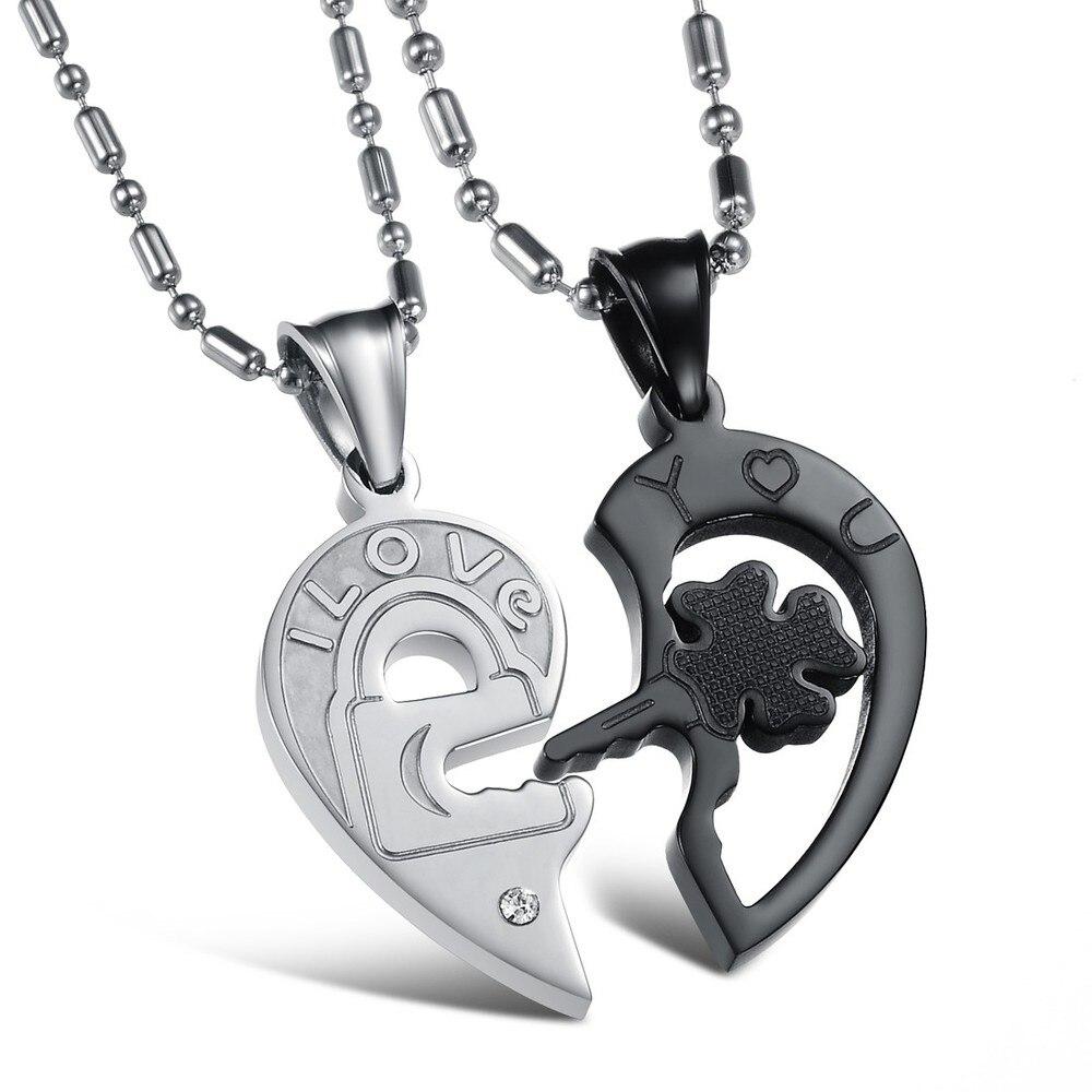 Korean Couple Necklace Titanium Necklaces Pendants Cute Necklaces ...
