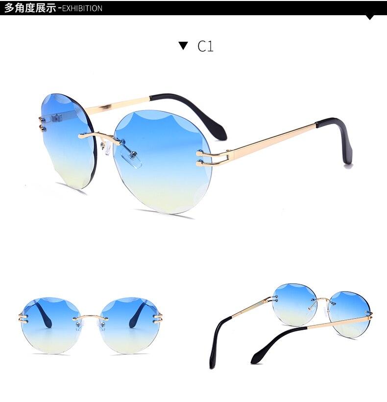 2018 New BG84-88 Sunglasses Ladies French Luxury Designer Glasses Red Blue Pink Gradient Glasses UV400 oculos de sol