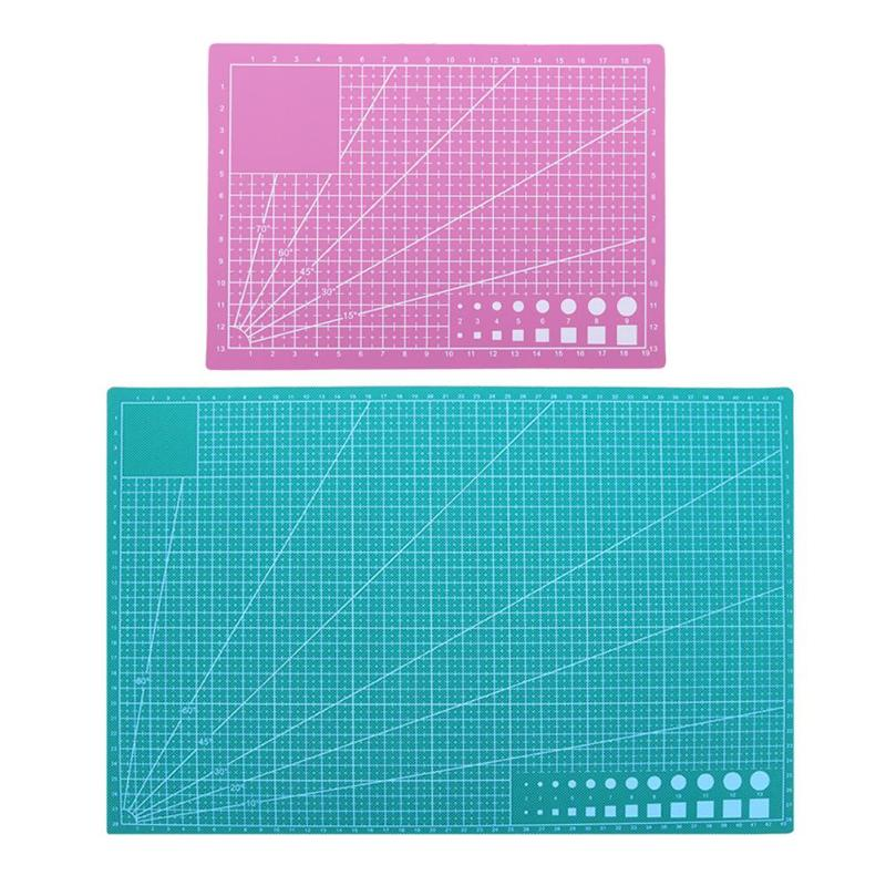Peerless 1pc 30*22cm A4 Grid Lines Self Healing Cutting Mat Craft Card Fabric Leather Paper Board Sturdy Construction Cutting Supplies