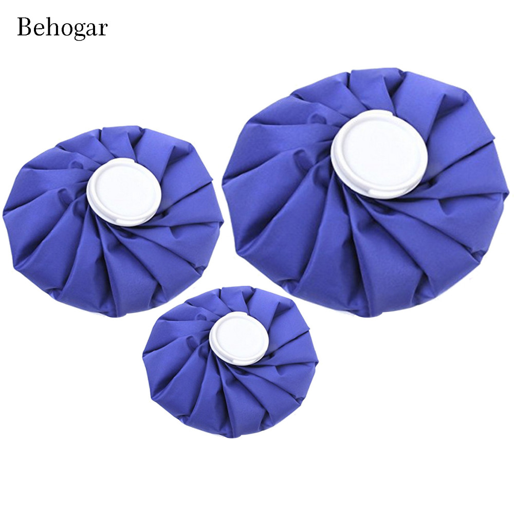 Behogar 3 Pack( 6inch, 9inch, 11 inch ) Ice Bag Hot and Cold Ice Pack for Injuries Head Back Knee Pain Treatment Cooling Bag