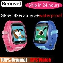 Benovel Q06 GPS inteligente reloj niño IP67 impermeable niños Smart  WatchSOS llame ubicación Device Tracker Safe Anti-Lost Monit. 54ec221d7a46