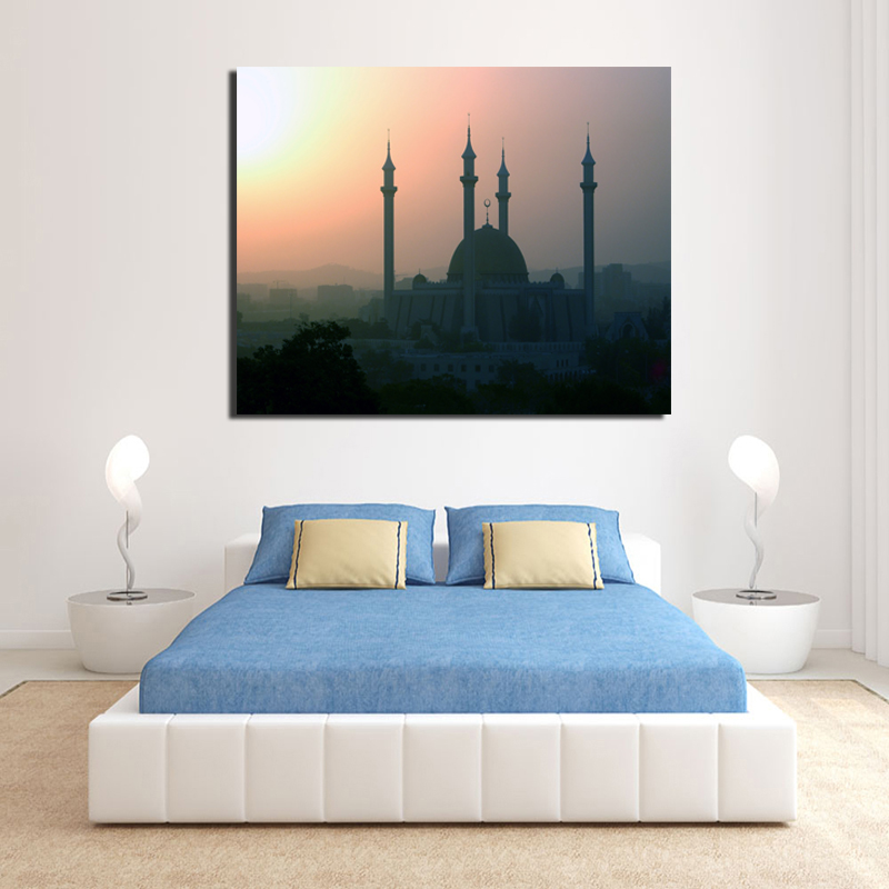 Islamic amputation Canvas Painting Print Living Room Home Decoration Modern Wall Art Oil Painting Posters Pictures Framework HD
