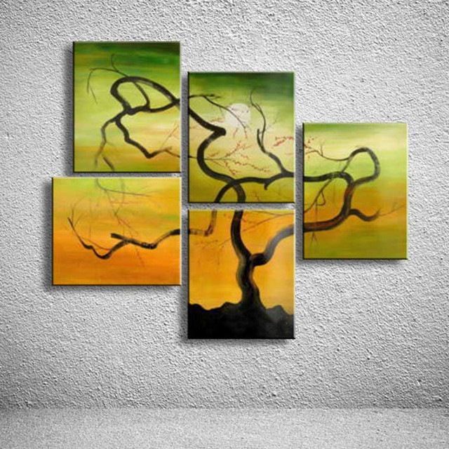 Hand Painted Colorful Landscape Oil Painting on Canvas Abstract ...