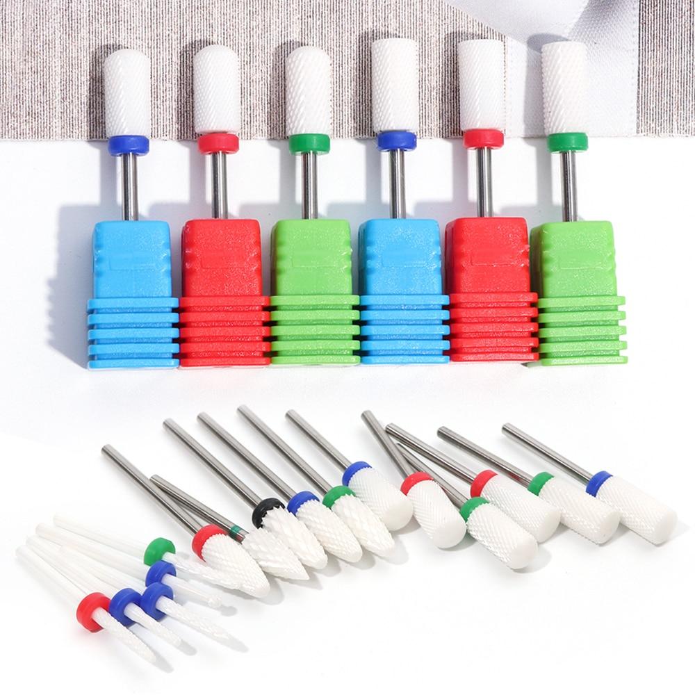 7 Types Ceramic Nail Drill Bits Manicure Machine