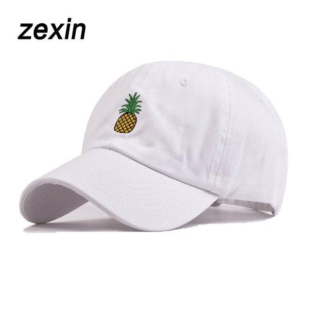 7d3968f1cb5 Summer Fruit Pineapple Baseball Cap For Women Girls Dad Hat Casual Sport  Snapback Bone Caps Men Hats