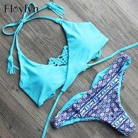 ABOUTTHEFIT Sexy Criss Cross Bikini Brazilian Bandage Swimsuit Women Push Up Swimwear Bikini Set Wrap Top