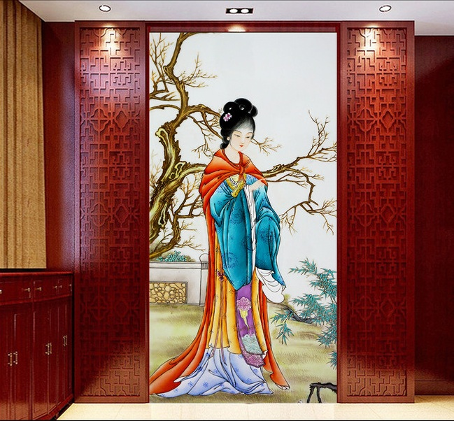 3d room wallpaper custom mural non-woven picture 3d The ancient Chinese beauty  porch paintings photo 3d wall murals wallpaper custom baby wallpaper snow white and the seven dwarfs bedroom for the children s room mural backdrop stereoscopic 3d