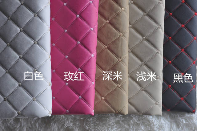1 Meter Faux Pu Leather Diy Material Plaid Patterned Leather Fabric  Embossed Black Synthetic Leatherette For 2ae139462dd9