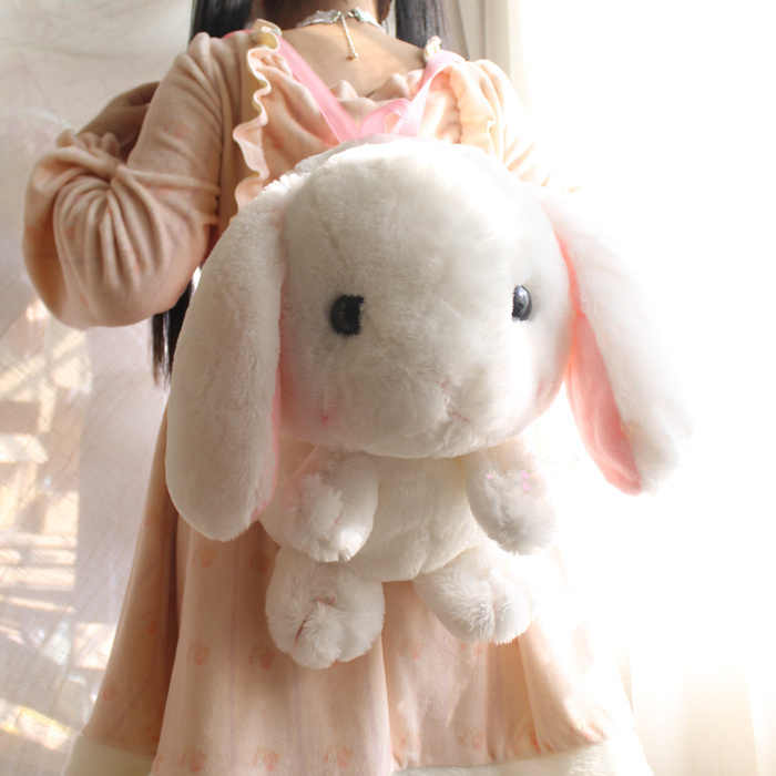 7b9b896774ca Detail Feedback Questions about Japanese Anime LOLITA Women Plush Backpacks  Cute Rabbit Bunny Girls Toy Backpack Cartoon Bag Toy Bag White Cute Fluffy  ...
