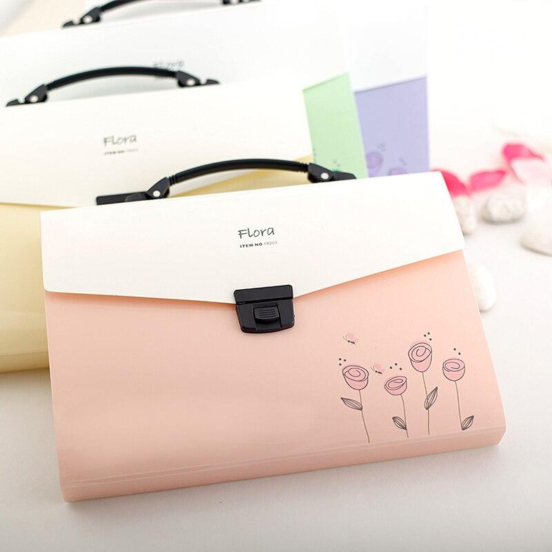 A4 File Folder Organizer Document Filing Bag Stationery Bag Expanding Wallet Manila Folder Pastas Fichario Escolar 33*23*2.8cm